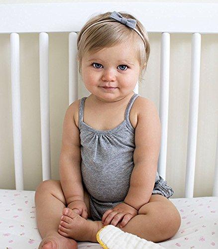 Burt's Bees Baby Set Of 6 100% Organic Cotton Camisole Bodysuits, Cloud/Heather Grey/Blossom, 12 Months