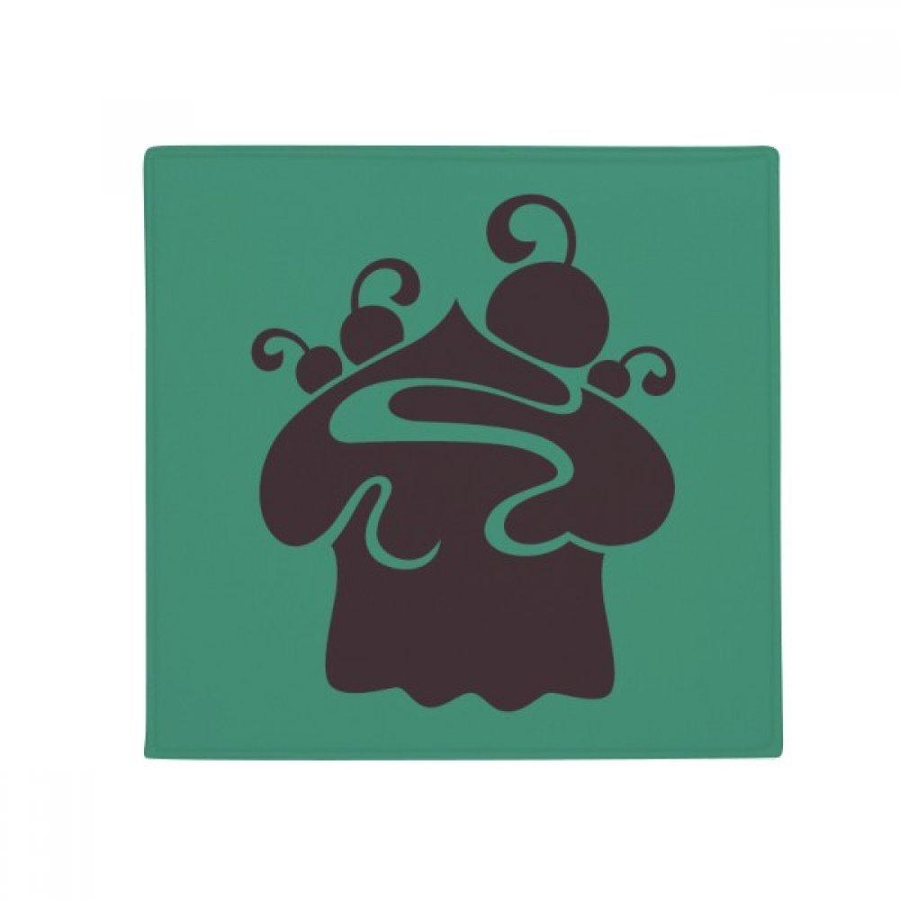 DIYthinker Black Cherry Ice Cream Silhouette Anti-Slip Floor Pet Mat Square Home Kitchen Door 80Cm Gift