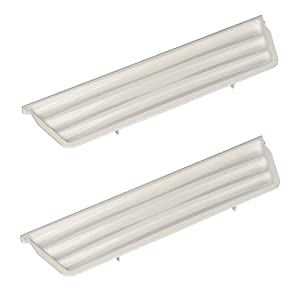 Edgewater Parts 2206670W Refrigerator Dispenser Door Overflow Grille (2-Pack), White, Compatible With Whirlpool, Kenmore, KitchenAid, Maytag, Amana, Estate, Crosley, Roper, Inglis