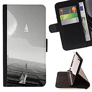 Momo Phone Case / Flip Funda de Cuero Case Cover - Significado Blanca Cielo motivación Negro - MOTOROLA MOTO X PLAY XT1562