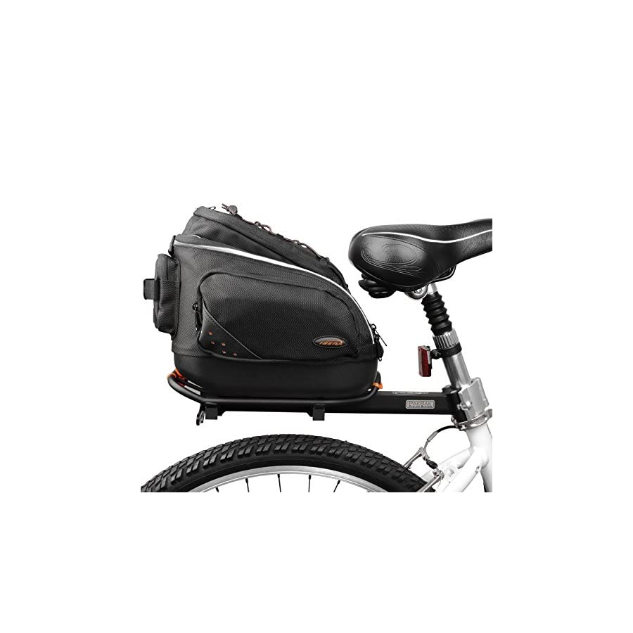 Ibera PakRak Quick Release Mini Commuter Bike Trunk Bag (Only compatible with IB RA6 Rack)