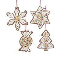 The Bridge Collection Rainbow Swirl Gingerbread Cookie Ornaments, Set of 4 Assorted