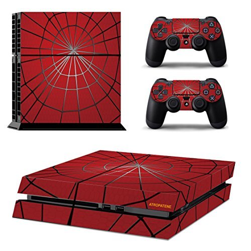 Price comparison product image Spider Pattern PS4 Console and Controllers Vinyl Skin Decal Stickers Kits-Spider Man Pattern