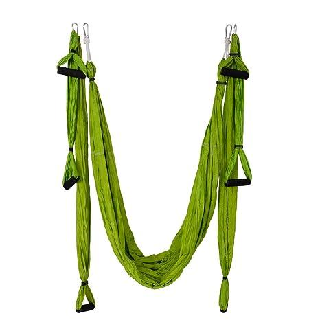 Amazon.com : CHYIR Anti-Gravity Aerial Yoga Hammock Green ...