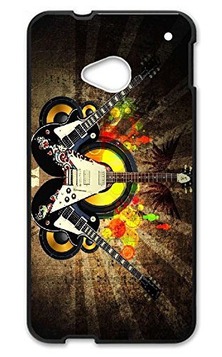 Custom HTC One M7 Case Flower Skull Hard PC For