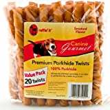 Westminster Pet 75251 Ruffin it Canine Gourmet Premium Smoked Pork Twists 20 pack, My Pet Supplies