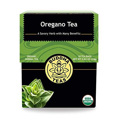 (Organic Oregano Tea - Kosher, Caffeine Free, GMO-Free - 18 Bleach Free Tea Bags)