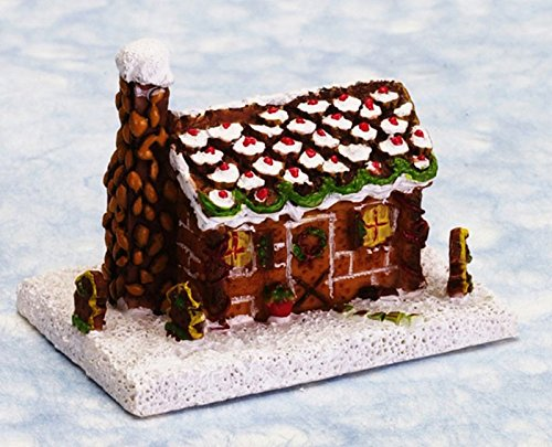 Town Square Miniatures Dollhouse Miniature Gingerbread Log Cabin ()