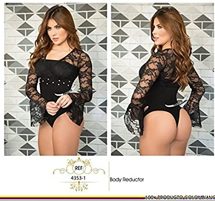 Moda Colombiana Womens Body Shaper Blouse Blusa Fajas Colombianas Ab Control Ref 4353 ONE SIZE (