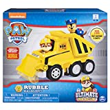 PAW Patrol Ultimate Rescue - Rubbles Ultimate Rescue Bulldozer with Moving Scoop and Lift-up Dump Bed, Ages 3 and Up