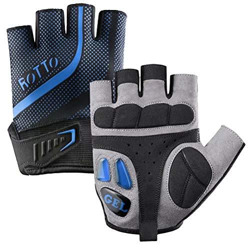 ROTTO Cycling Gloves MTB Gloves Fingerless Full Finger Bike Gloves for Men Women with Gel and SBR Padding