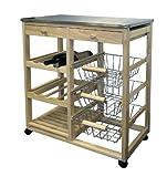 ORE International H-43 Wood Kitchen Cart