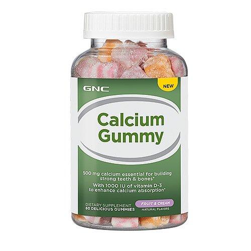 GNC Calcium Gummy, Fruit & Cream, 60 ea