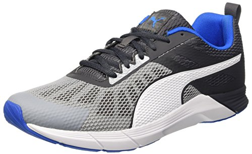 Puma Propel - Zapatillas de Entrenamiento Hombre Gris (Quarry/Asphalt/Electric Blue Lemonade/Bianco)