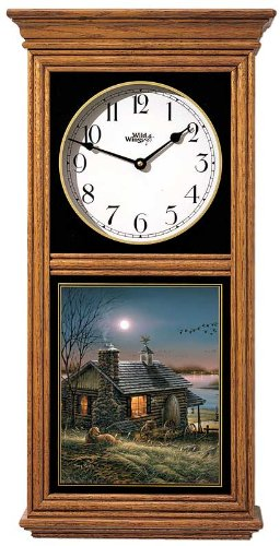 Pure Contentment Regulator Clock by Terry Redlin (Glass Regulator Clock)