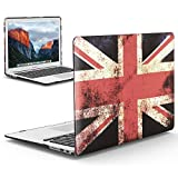 iBenzer Old MacBook Pro 13 Inch case A1278, Soft Touch Hard Case Shell Cover for Apple MacBook Pro 13 with CD-ROM, UK Flag, MMP13UKFL