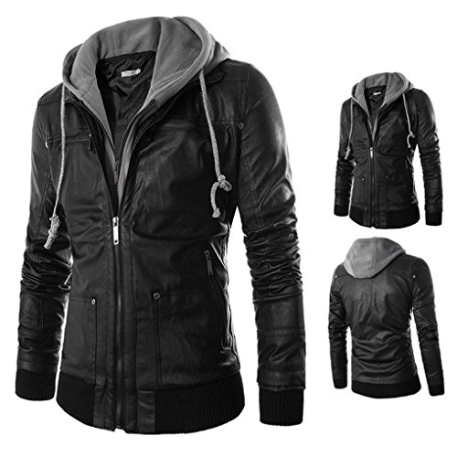 Haoricu Leather Motocycle Jackets Outerwear