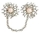 Gnzoe Jewelry, Womens Brooch Rhinestone Flowers Shape Flower Brooch Vivid Flowers Brooch Pins Silver