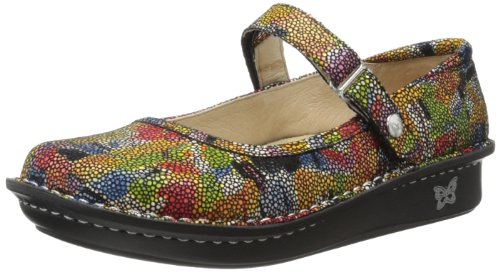Alegria Womens Belle Mary Jane Flat Multi Painterly