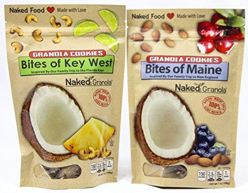 Naked Granola Gluten-Free Taste of Maine and Key West Granola Cookie Bites Bundle