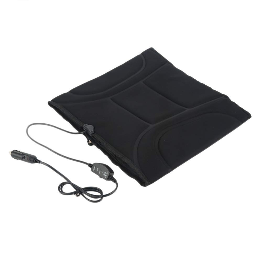 MASO Heated Car Seat Cover,12V Heated Seat Cushion Rear seat with Overheating Protection and 2-Way Temperature Switch,CE Certified