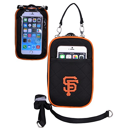 MLB San Francisco Giants Crossbody Bag Quilt-Embroidered Logo-Fits All Phones- Charm14-Little Earth (San Francisco Jacket Giants)