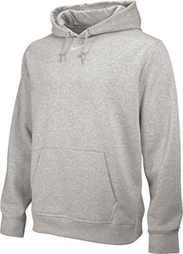 Nike Team Club Fleece Hoody - Sudadera para hombre Gris (Dk Grey Heather / Tm Blanco)
