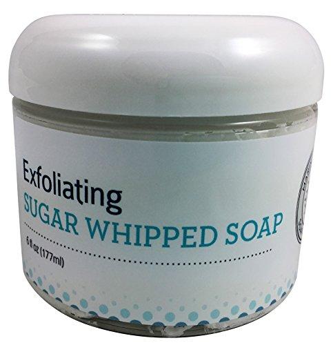 Marina Cottage Soap Co. Organic Exfoliating Sugar Whipped Soap, Tobacco Flower