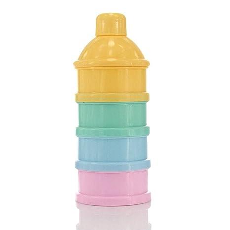 Caja de leche en polvo Fórmula leche en polvo, dispensador de leche en polvo apilable