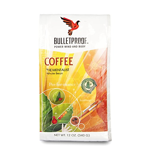Bulletproof The Mentalist Drab Roast Whole Bean Coffee, Dark Cocoa and Vanilla Aromatics with Cherry Sweetness (12 Ounces)