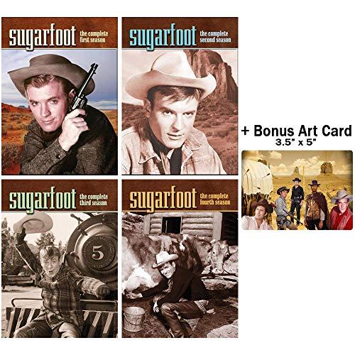 Sugarfoot: Complete Classic Western TV Series Seasons 1-4 DVD Collection + Bonus Art Card