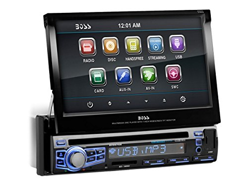 BOSS Audio BV9976B Single Din, Touchscreen, Bluetooth, DVD/CD/MP3/USB/SD AM/FM Car Stereo, 7 Inch Digital LCD Monitor, Detachable Front Panel, Wireless Remote, Multi-Color Illumination (2002 Chevy Impala Cd Player)