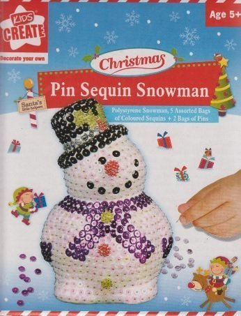 - Anker Kids Create Make Your Own Pin Sequin Snowman Christmas Decoration Age 5+