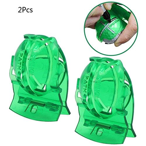 Golf Ball Liner(2PC),Lovewe Golf Swing Guide Training Aid/Trainer for Wrist Arm Corrector Control Gesture(Green)