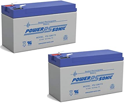 Power Sonic 12V 9AH SLA Battery Replaces CP1290 6-DW-9 HR9-12 PS-1290F2-2 Pack