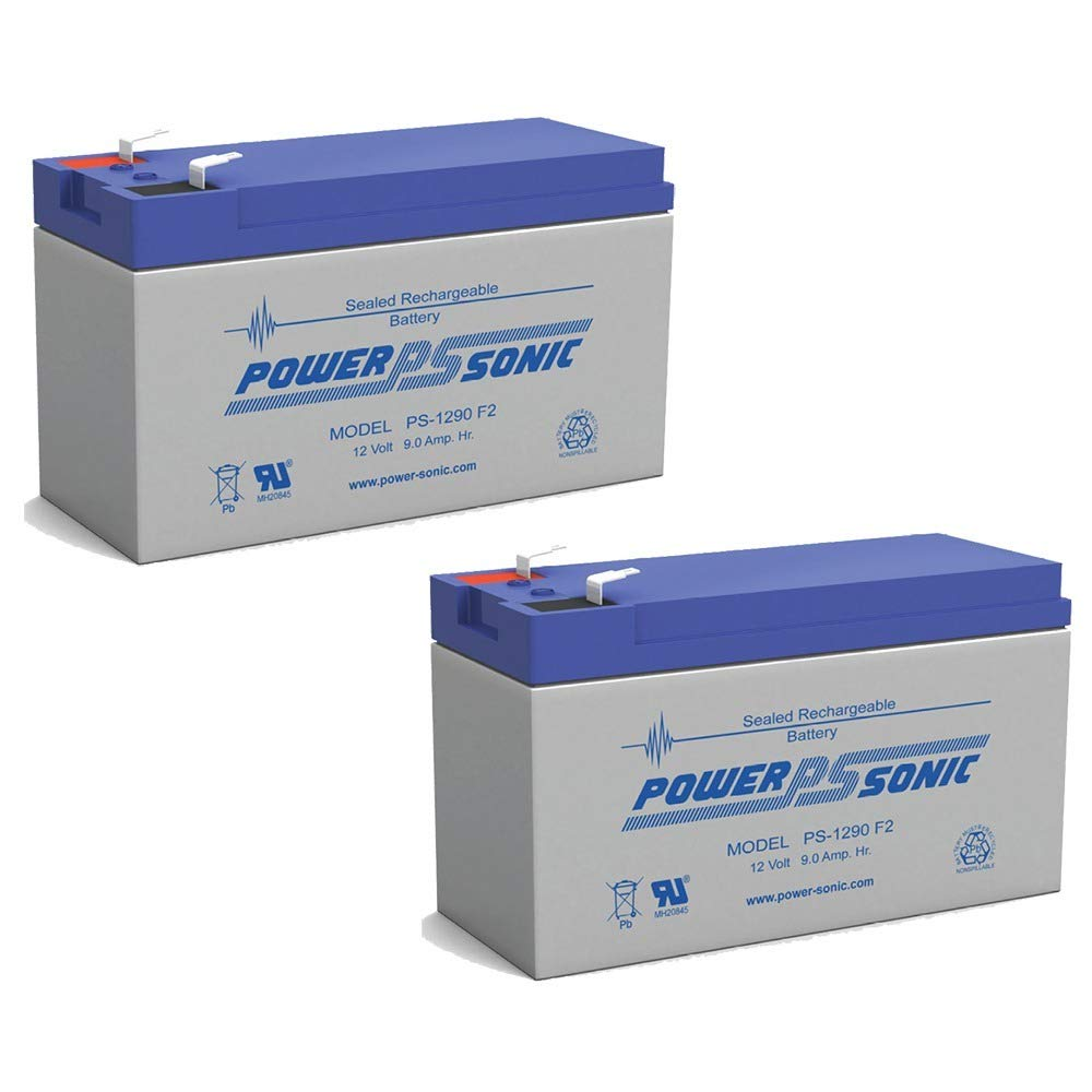 PS-1290 12 Volt 9 Amp Hour Rechargeable SLA Battery - PACK OF 2 Power-Sonic 4330198641