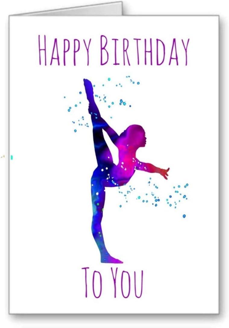 GFC Gymnast Gymnastics Ballet Birthday Card Ballerina Happy Birthday