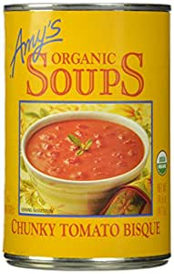 Amy's Organic Soups, Chunky Tomato Bisque, 14.5 Ounce (Pack of 12)