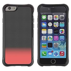 Suave TPU Caso Carcasa de Caucho Funda para Apple Iphone 6 / Pink Peach Gray Clean Minimalist / STRONG