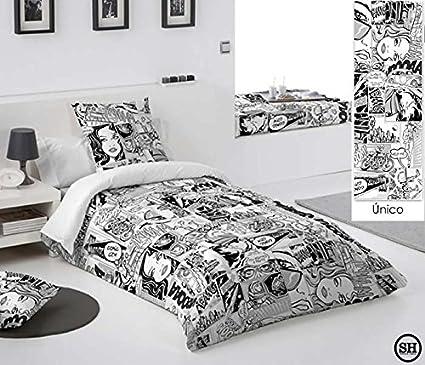 Rossella decoracion Funda nórdica Comic, Fundas nórdicas, Tejidos de loneta Estampada y Reverso 100% algodón (Cama 150 (240x260)): Amazon.es: Hogar