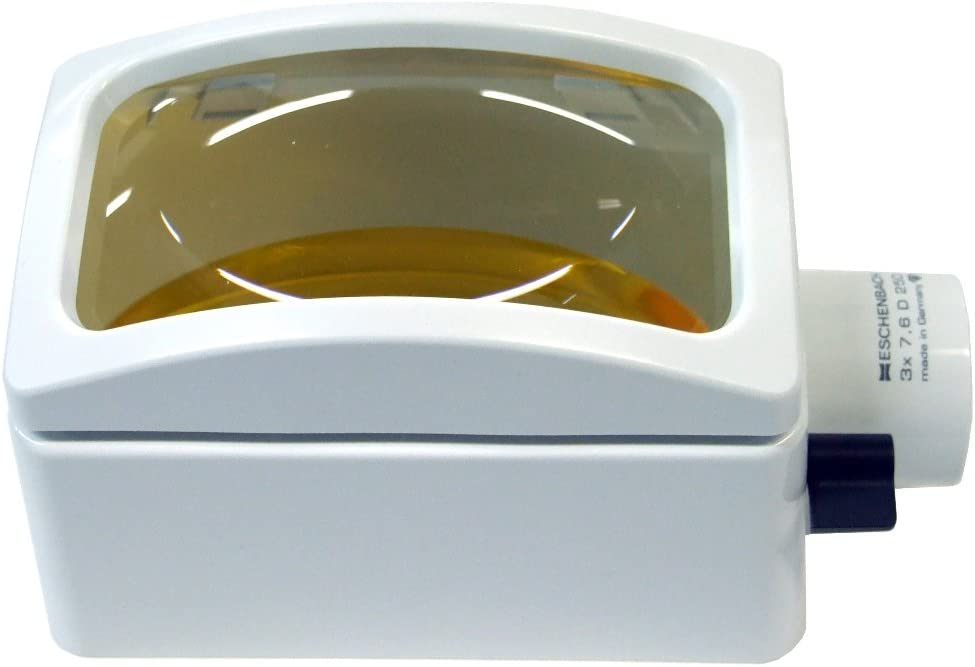Eschenbach 3x Rectangular Magnifier Head with Yellow Tinted Bar
