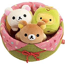Rilakkuma Box of Spring Sweets Plush Set 2