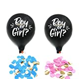 IDS 2Pcs 36'' Gender Reveal Balloons with Pink and Blue Confetti Decoration Kit for Baby Reveal Baby Shower, Sex Reveal