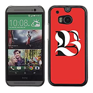 Shell-Star Arte & diseño plástico duro Fundas Cover Cubre Hard Case Cover para HTC One M8 ( B L Be Meaning Calligraphy Initial )