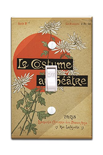 Theatre Costume Design Portfolio (Le Costume au Theatre (portfolio, cover) Vintage Poster (artist: Steinlen and Mesples) France c. 1899 (Light Switchplate Cover))