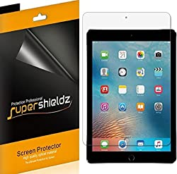 "Supershieldz [4-pack] Ipad Pro 9.7 Inchnew Ipad 9.7 Inch (20182017) Screen Protector, Anti-bubble High Definition Clear Shield For Apple Ipad Pro 9.7""ipad 9.7"" -Lifetime Replacements Warranty"