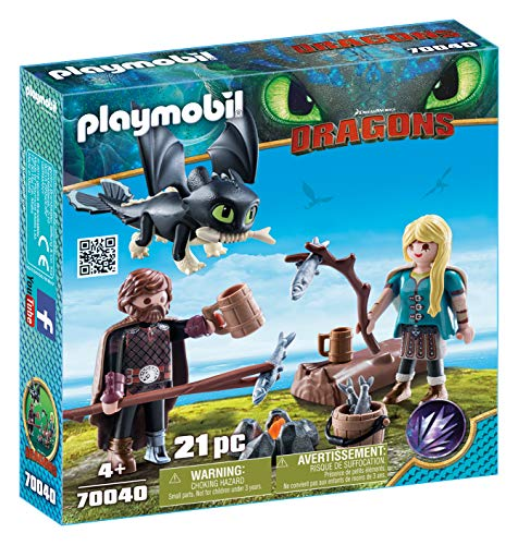 PLAYMOBIL® How to Train Your Dragon III Hiccup & Astrid with Baby Dragon Multicolor -