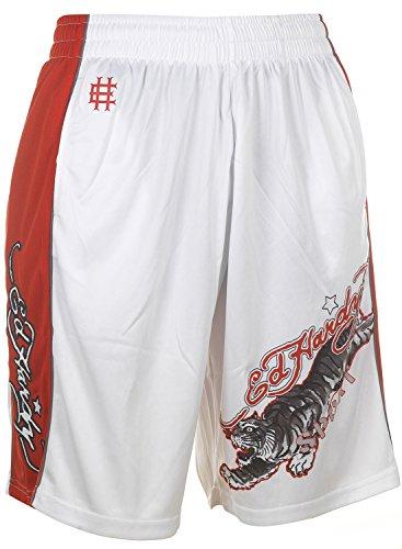 Ed Hardy Tiger Mesh Shorts - White - (Braided Mesh Short)