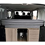 KFoam-Store-Materasso-Pieghevole-per-Renault-Trafic-Opel-Vivaro-e-Nissan-Primastar-Combi-Modello-2002-2014-155x190x8-cm-Colore-Grigio-Camper-Van