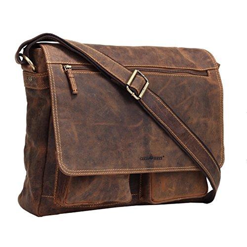 Greenburry Vintage Sac bandoulière cuir 35 cm brown
